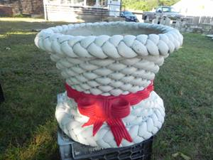 Pt 102p 45 Painted Basketweave Planter 12